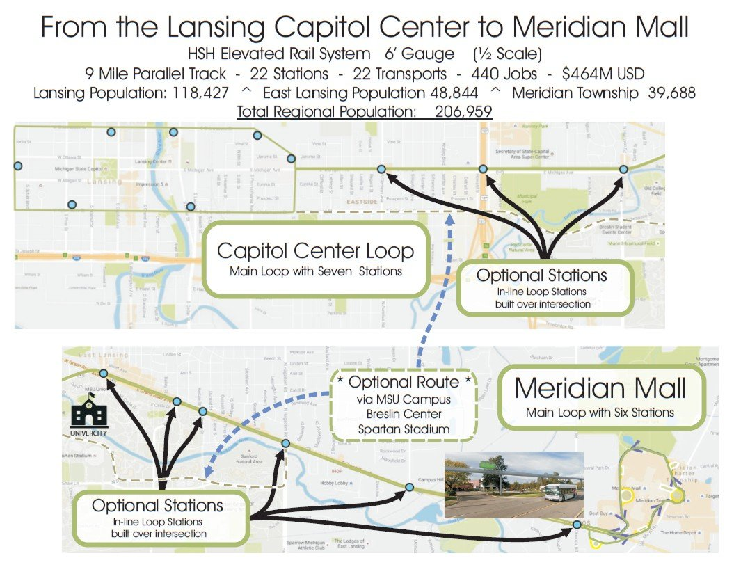 Capitol Center Loop to Meridian Mall