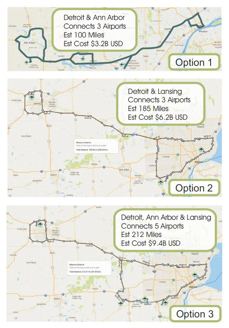 Detroit Ann Arbor and Lansing 3 Options